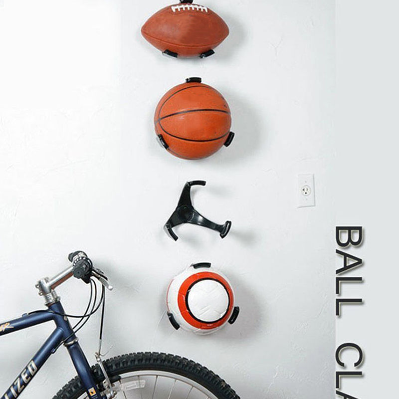 Ball Holder Claw Wall Rack Display For Rugby Soccer Football Basketball