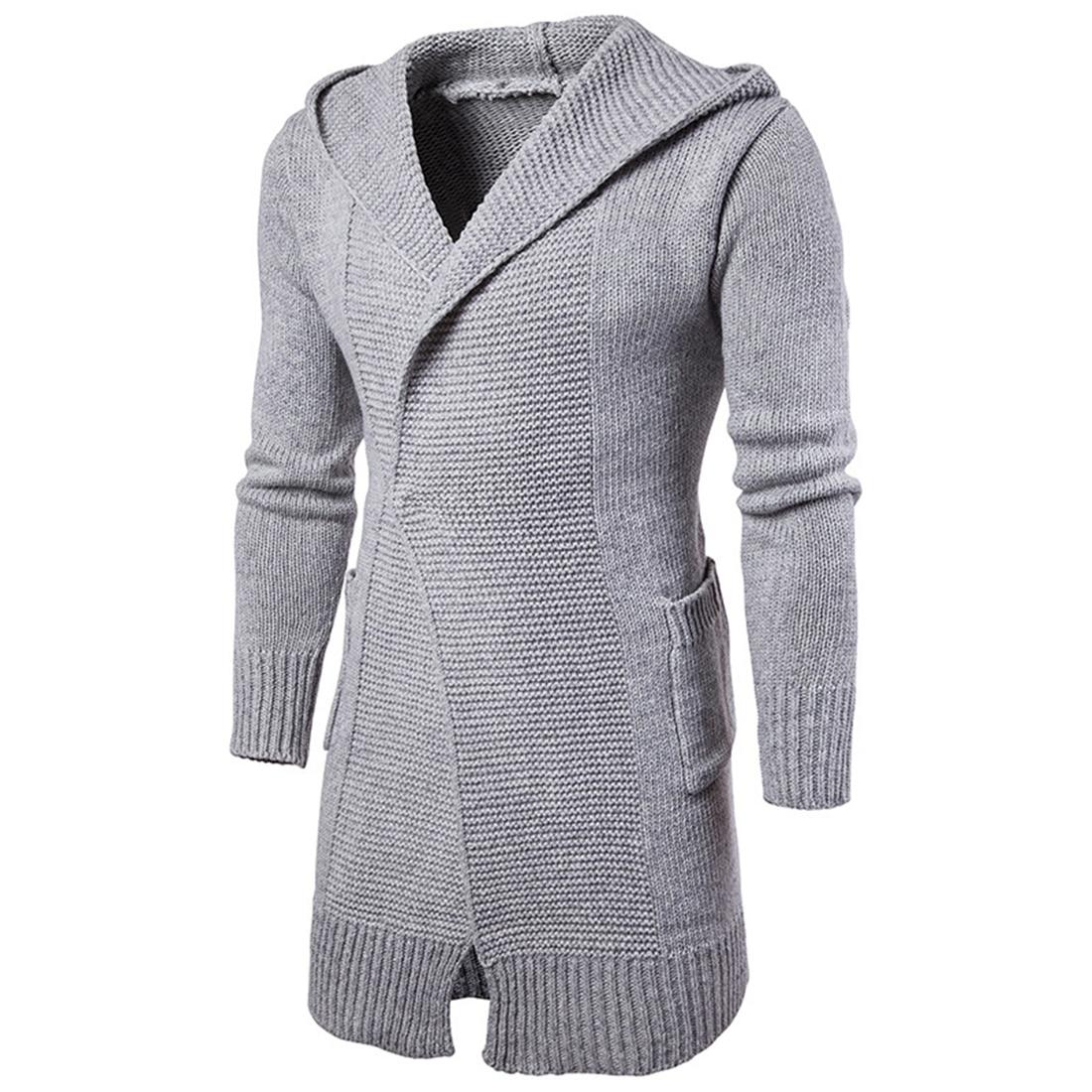 Fashion font b Men s b font Knit Single Button font b Sweater b font Coat