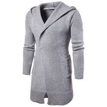 Fashion Men's Knit Single Button Sweater Coat Solid Casual Thick Jacket Outwear Knitwear Casual Long Line Sweatercoat Pockets