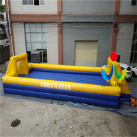 2018 Russia World Cup 12X6M Commercial Inflatable Football Field,Portable Inflatable Soccer Field for Kids and Adults