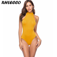 714bea5f2f White Yellow Red Sexy Bodysuit Bandage Backless Beach Rompers Womens  Jumpsuit Skinny Overalls Bodycon Summer Tops