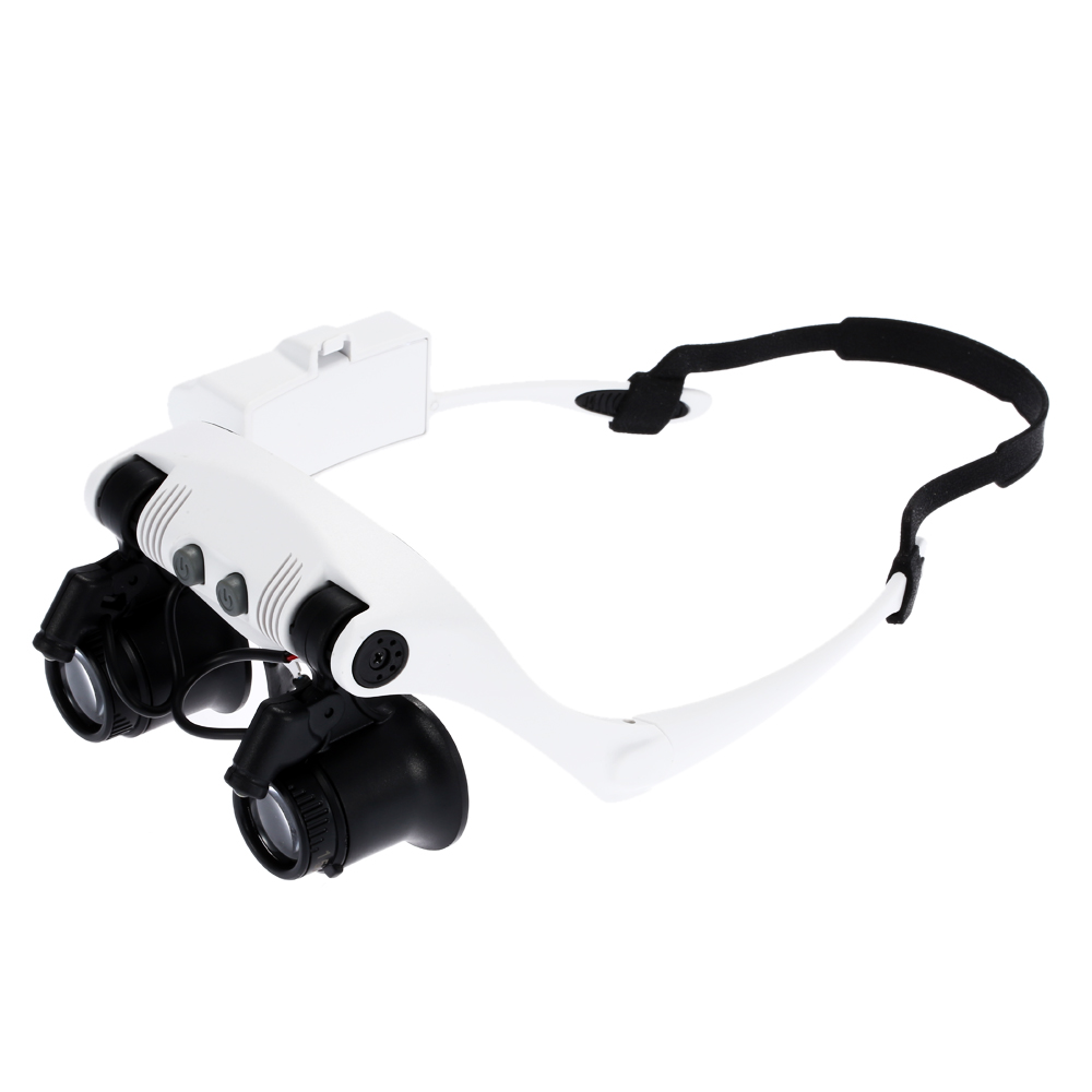 10x 15x 20x 25x Magnifying Glass with 2 LED Light Head Wearing Magnifier Double Eye Jeweler Watch Clock Repair Loupe microscope usb 2 0 25x 200x digital microscope magnifier magnifying glass
