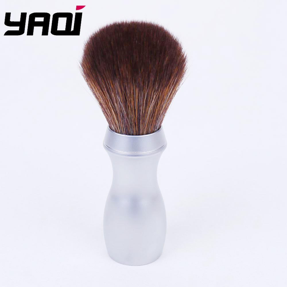 24mm Heavy Long Metal Handle Synthetic Hair  Shaving Brush