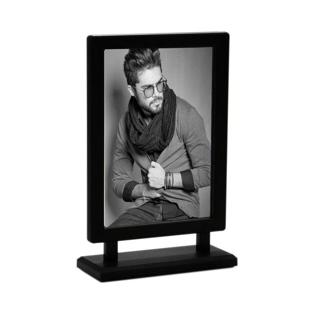 Black A4 Poster Frame Stand White Label Holder Price Tag Display Rack Table Desk Sign Holder Menu Rack Advertising Banner Stand