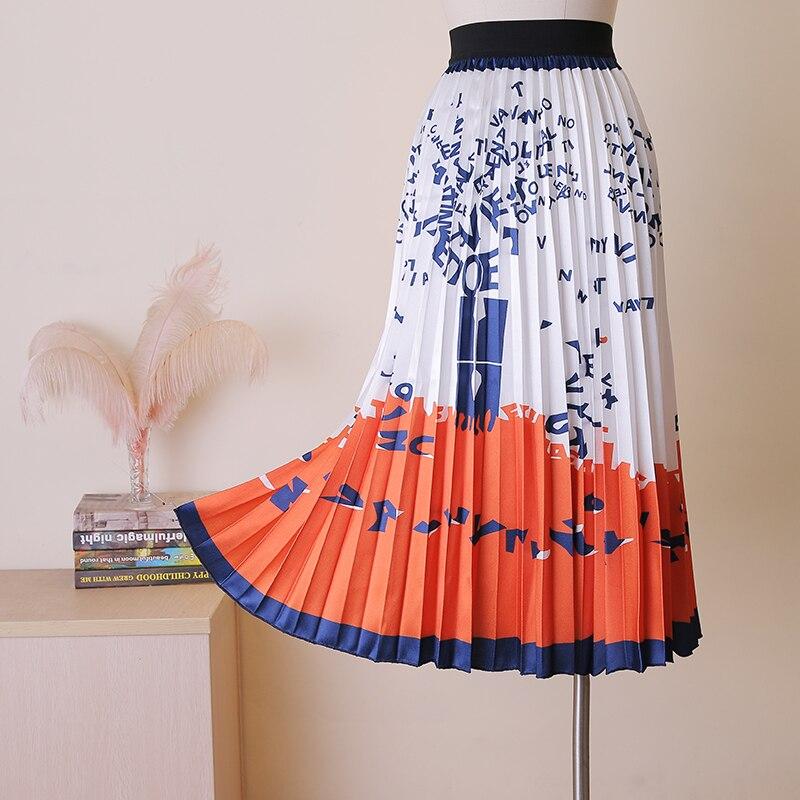 Women s Ankle Length stylish Fashion Skirt Girl s Summer High Quality alphabet Printed Cartoon Casual