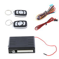 Universal 12V Car Vehicle Auto Burglar Alarm Protection LED Keyless Entry Security System central locking with Remote Control