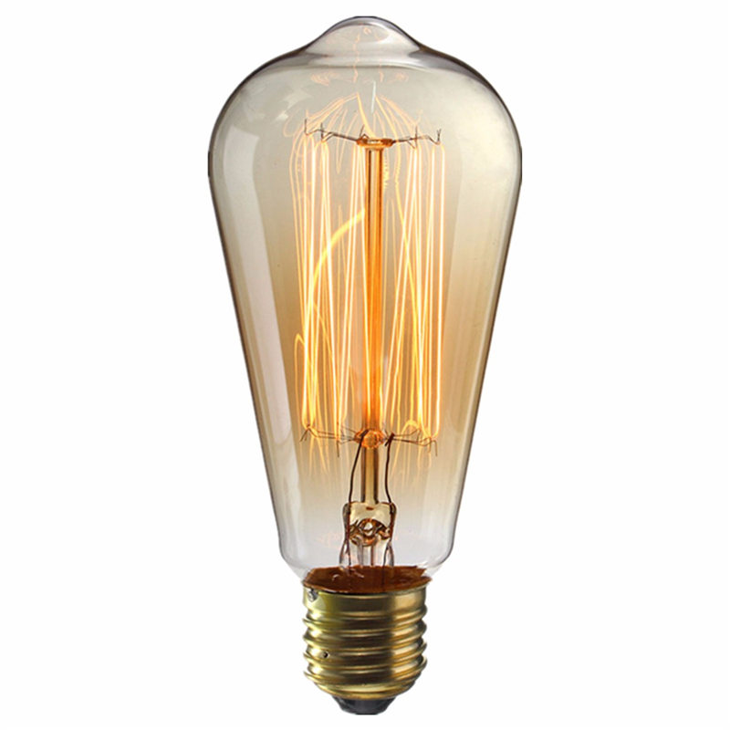 Vintage Edison Bulb E27 B22 ST64 40W Antique Filament Incandescent Clear Glass Pendant Lamp Bulb For Bar Cafe Lighting 110V/220V