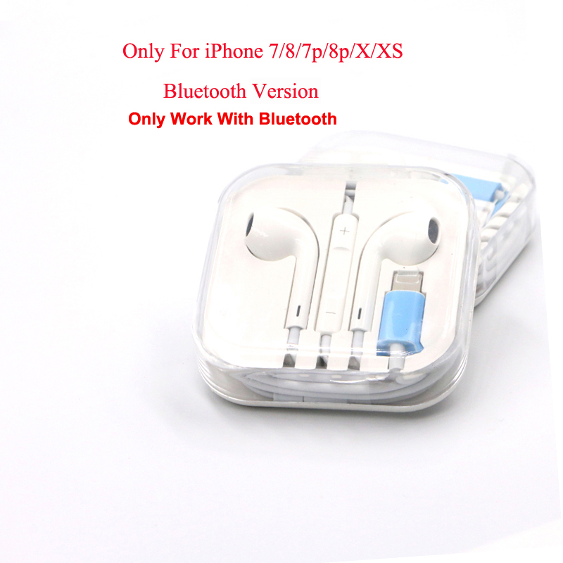 20PCS Wired Bluetooth Earphones With Mic Earbuds For Lighting IPhone 8 7 Plus X XR XS Max 6 6s 6splus Earphone Stereo Audifono