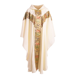 Image 3 - Priest Catholic Church Robe Archbishop Clergy Vestments with Stole Pope Chasuble Costume