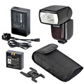 Godox V850 Flash with Changeable Li-ion Battery Camera Speedlite Flash Hot Shoe Flashgun with Car Charger for DSLR