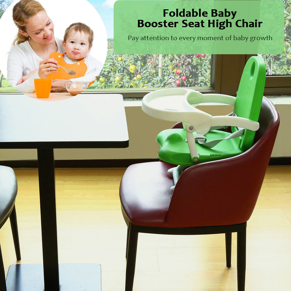 Baby Chair Seat Portable Kids Booster High Chair With Table Foldable Children Feeding Chair Adjustable Dinning Table