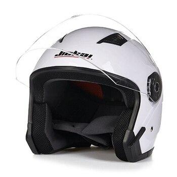 New  Vintage Motorcycle Helmet Four Seasons Motorbike Open Face Half Double visor Helmet Capacete Scooter Bike cap helmets