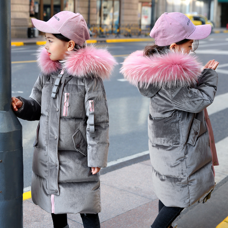 OLEKID -30 Degree 2018 Russian Winter Children Girl Coat 5-14 Years Kids Teenage Down Jacket For Girl Manteau Enfant Fille Hiver olekid 2018 children boys winter down jacket 3 12 years kid outerwear coat for girl manteau enfant garcon hiver winterjas jongen