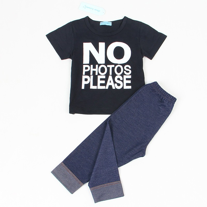 2018 Spring Baby Boy Clothing Set Infant Clothes Cotton Letter Printed Long sleeve T-shirt + Pant 2pcs Baby Clothing Sets