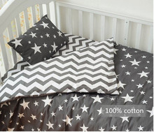 Free shipping 3 pcs/set crib bedding set 100% cotton baby bedding Pink bear Clouds black dot design for girls boys bed