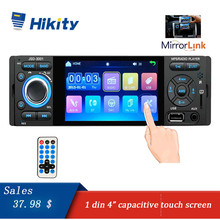 Hikity Car Radio 1 din jsd 3001 Autoradio 4 Touch Screen auto audio Mirror Link Stereo