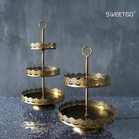 Vintage Cupcake Stand Metal Iron Lace Edge Cake Tools For Party Display Decoration Bakeware Dinnerware Candy