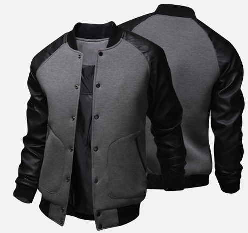 Zogaa 2019 Causal Color Matching Faux Leather Mens Jacket O Neck Solid Mens Coats And Jackets Single Breasted Jacket Men