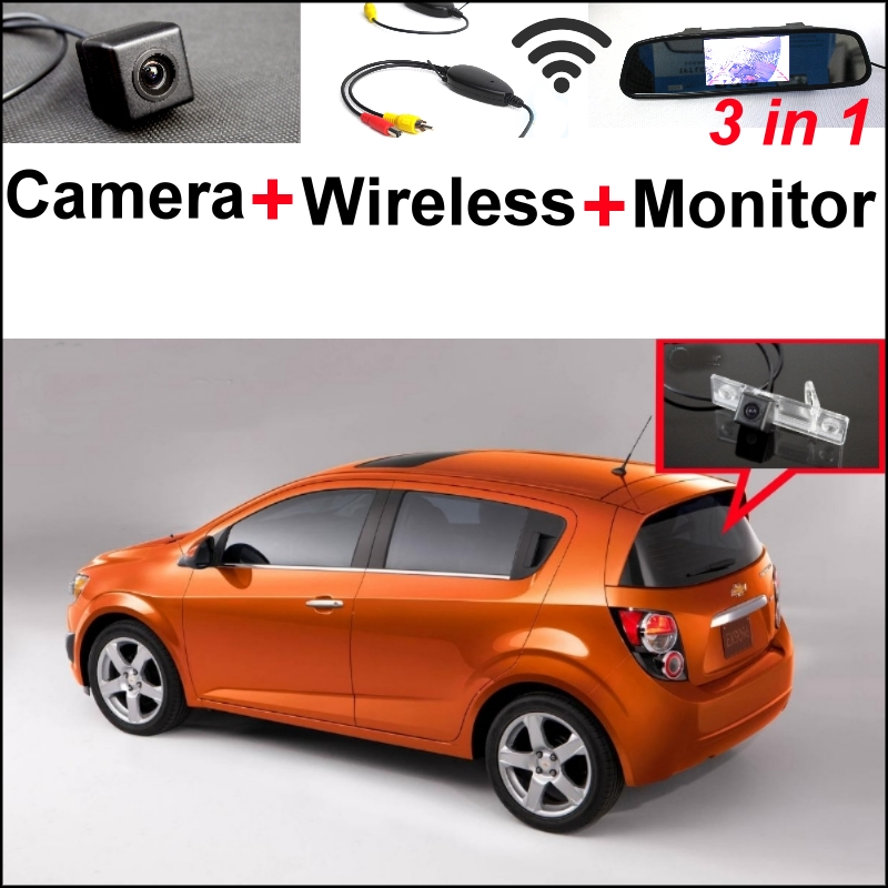3 in1 Special WiFi Camera + Wireless Receiver + Mirror Monitor DIY Parking System For Chevy Chevrolet Optra Spark Sonic Tosca wireless pager system 433 92mhz wireless restaurant table buzzer with monitor and watch receiver 3 display 42 call button