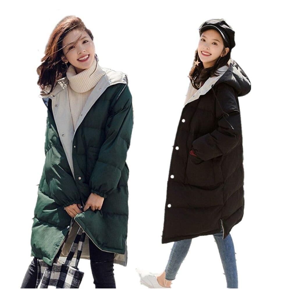2019 New Winter Jacket Women Parkas Coat Casual Long Down Jacket Plus Size Long Hooded Duck Down Coat Warm Women Jacket