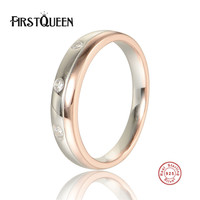 FirstQueen 925 Sterling Silver Stackable Nature Stone Ring for Men Clear CZ Authentic 925 Silver Jewelry
