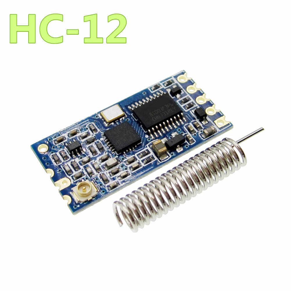 1 pçs novo 433 mhz HC-12 si4463 módulo de porta serial sem fio 1000m substituir bluetooth