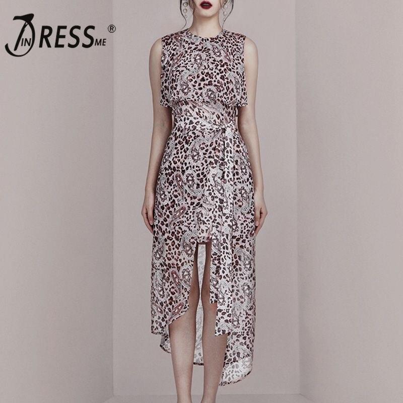 INDRESSME 2019 Новое модное Стильное элегантное женское платье без рукавов с