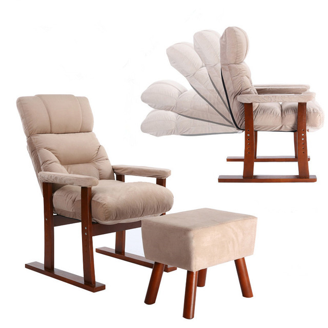 Estilo japonés tapicería Muebles madera sofá sillón otomana salón ...