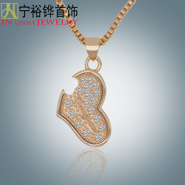 Jn beautiful heart shaped necklace high quality copper ladies jn beautiful heart shaped necklace high quality copper ladies pendants to send her new love aloadofball Image collections