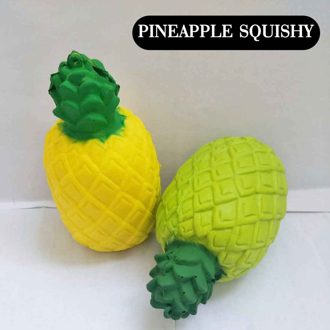 2018 New Arrival Fruits Jumbo Kawaii Slow Rising Squeeze Stretch Scented Bread Cake Kid Toy Gift Doll Squishy Pineapple Mobile Phone Straps