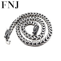 Dragonscale Necklace 925 Sterling Silver Men Big Statment 100 S925 Solid Silver Chain Necklaces Dragon Head