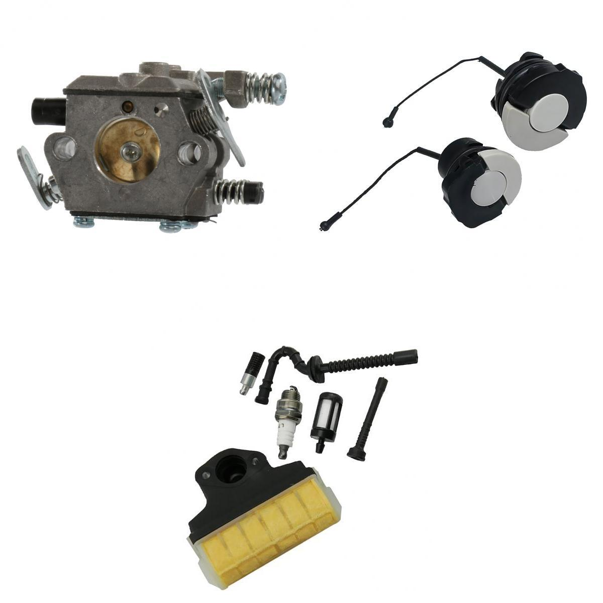 Carburetor, Oil Fuel Filler Cap, Air Filter, Fuel Pipe, Oil Pipe, Spark Plug for STIHL 021 023 025 MS210 MS230 MS250 Chainsaw