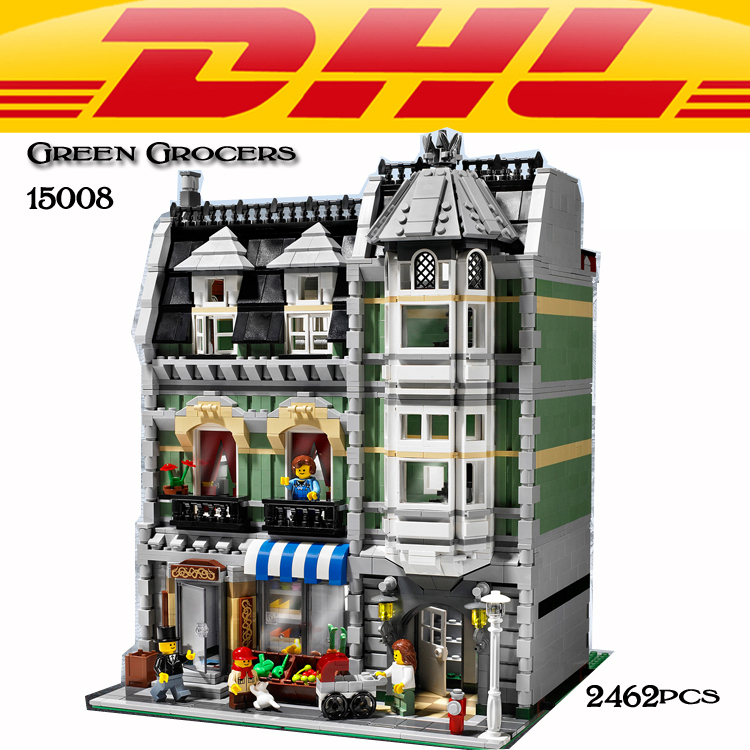 LEPIN 15008 City Street Green Grocers Model Building Blocks 10185 creator toys for children kids DIY gift girl gift lepin city creator 3 in 1 beachside vacation building blocks bricks kids model toys for children compatible with lego gift kid