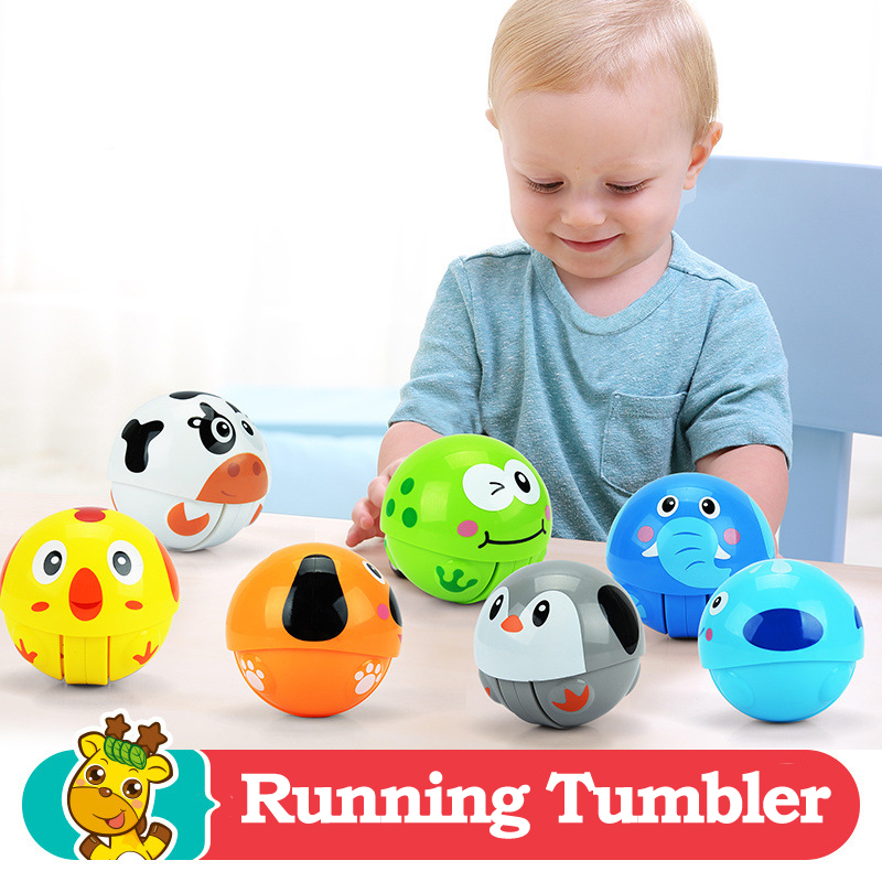 1e21ec025ddb Bola de juguete para bebés 3 + meses de dibujos animados Animal corriendo  vaso Brinquedos para Bebe juguetes para bebés sonajeros con paquete en  Sonajeros ...