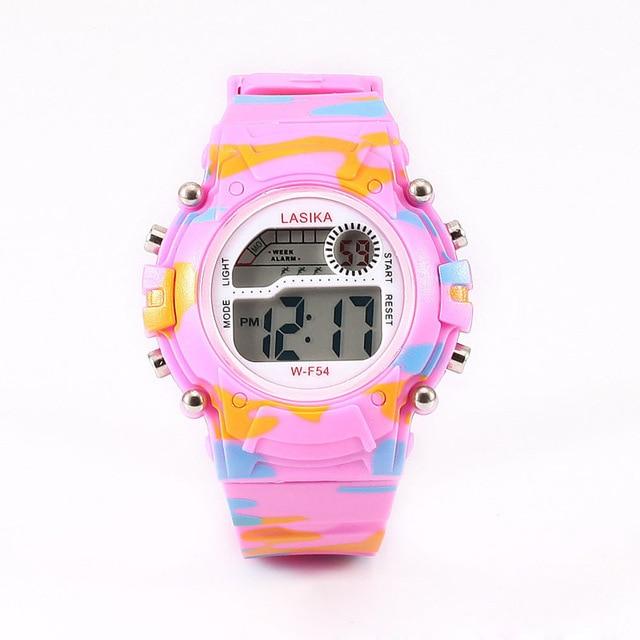 Fashion Camouflage Military Children's Digital Watches LED Display Alarm Clocks Plastics Strap Kids Wrist Watches Relogio Saat