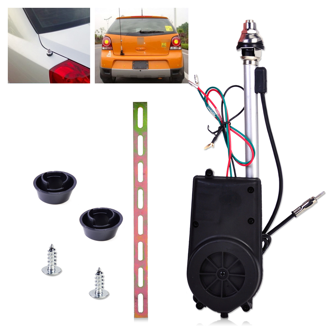 Universal 12V Car Aerial Automatic Power Antenna Replacement Kit FM Radio Mast Signal Booster for Volkswagen Toyota Mazda am fm radio car automatic power booster antenna mast kit auto aerial for mercedes toyota jeep kia vw audi ford focus mk2 mk3