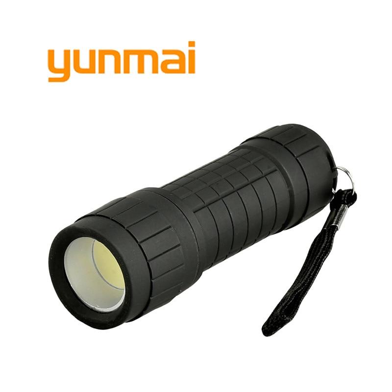 Yunmai Powerful Led Flashlight Portable Black Light Waterproof Cob Penlight Lampe Torch Lantern One Mode Work Camping Lamp
