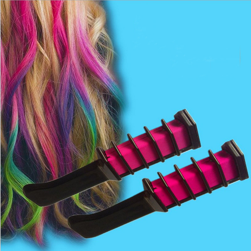 2016 New Brand Hair Color Chalk Multicolor Cosplay Hair Dye Comb ...