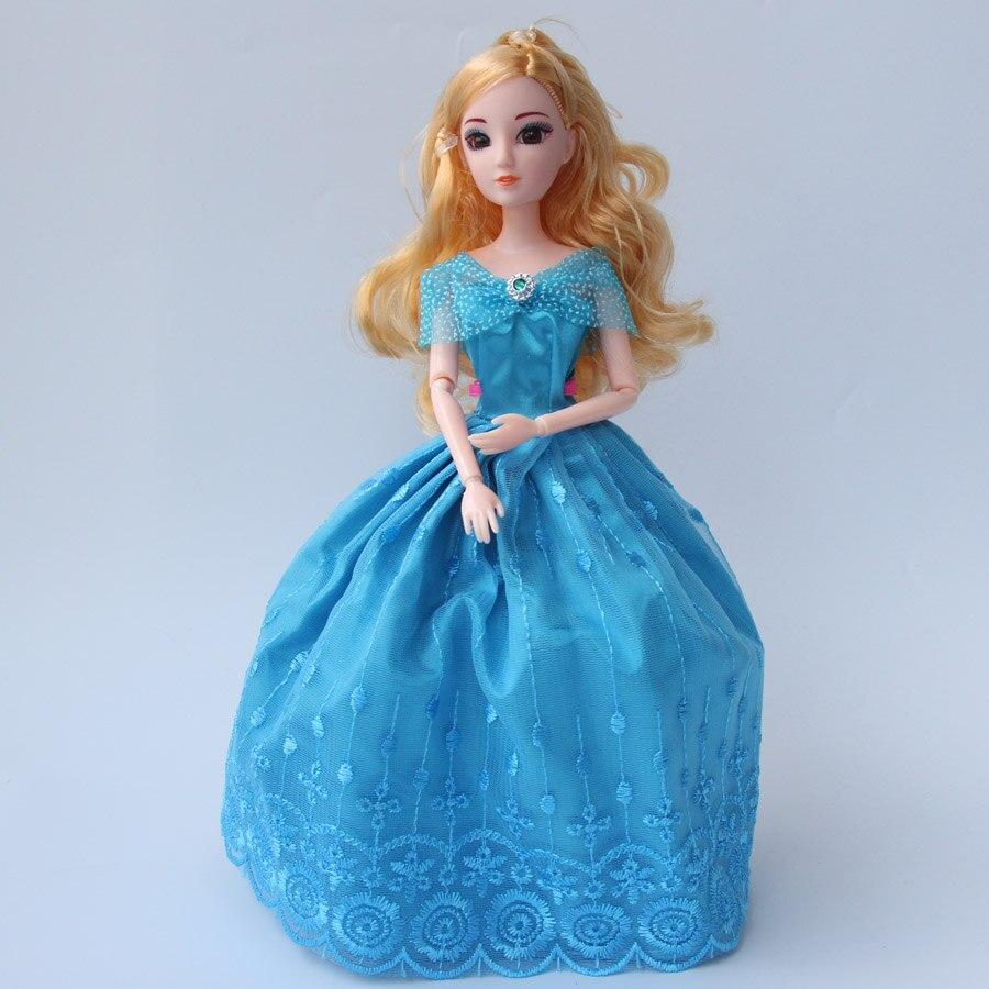 1pcs 30cm princenss cinderella girls dolls 12 joints diy for Diy party dress