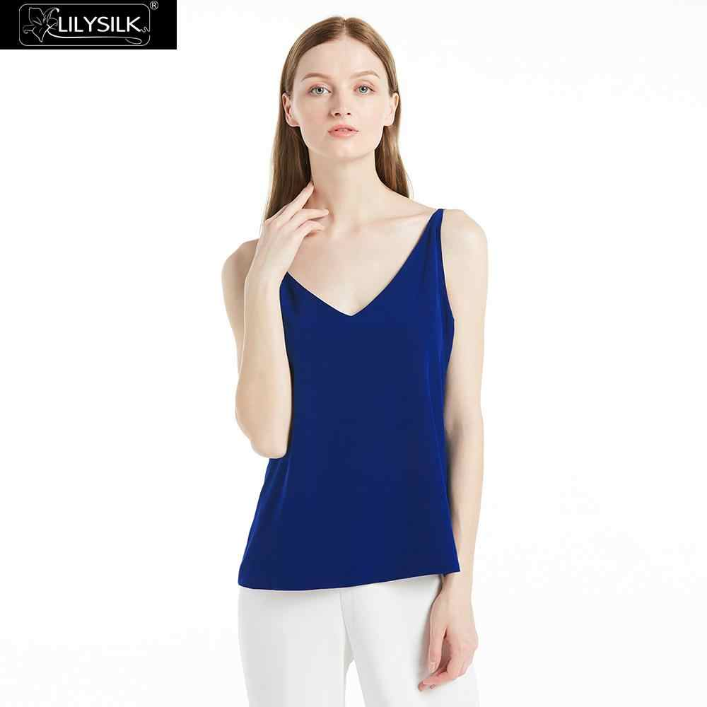99663c76d6 LILYSILK Camisole Top for Women Silk 18MM A Line Double Strap Back Ladies  Free Shipping Clearance