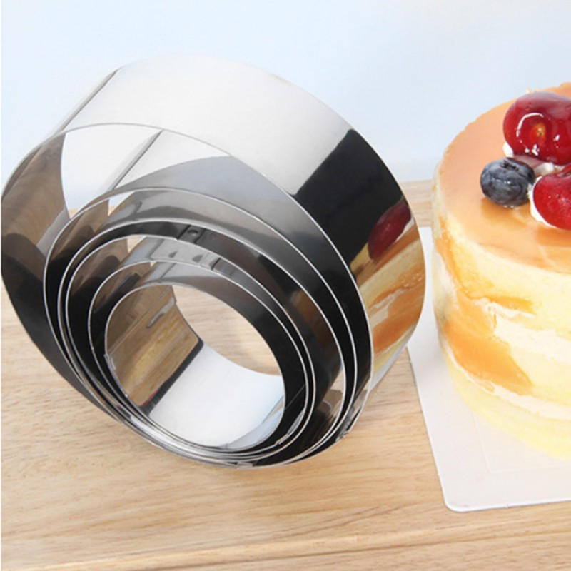 6Pcs/Set Cake Rings Stainless Round Shape Mousse Ring Home DIY Mousse Cake Decoration Mold Baking Cookie Biscuit Tools Bakeware ...