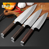 XITUO High Quality Kitchen Knife 3PCS Set Stainless Steel Japan Santoku Chef Knives Cleaver Raw Fish Fillet Salmon Boning Knives
