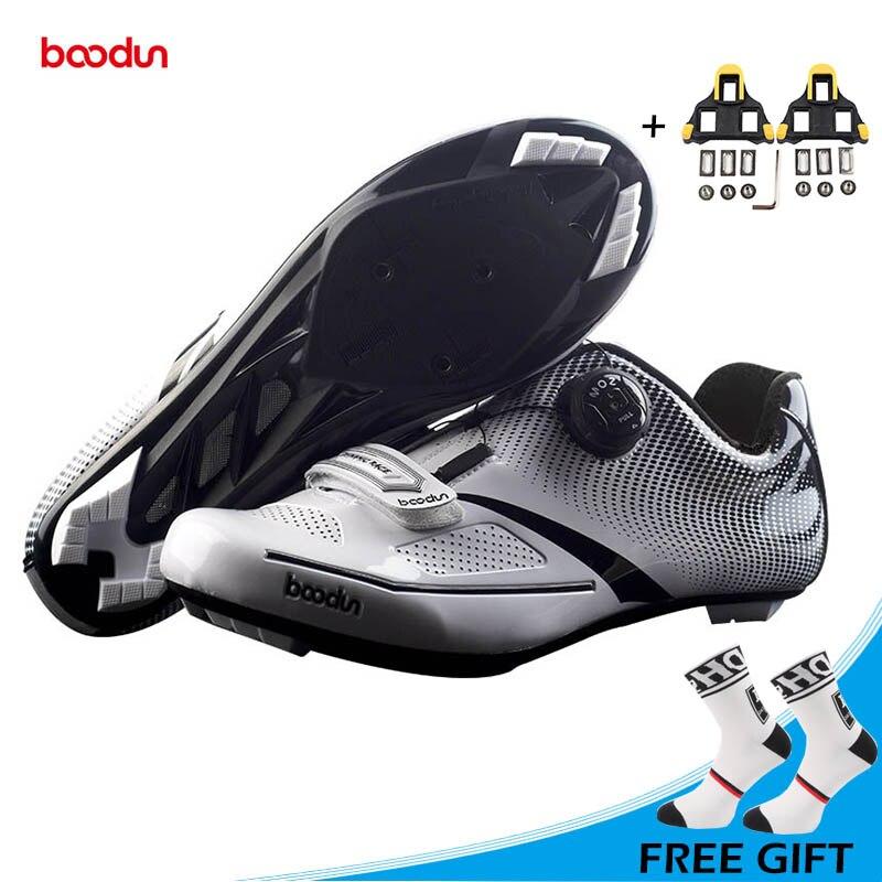 BOODUN Nouveau Ultra-Léger Route Chaussures de Vélo Auto-blocage Non-slip Chaussures De Vélo Hommes de Sport Route Équitation Chaussures Sapatos de ciclismo
