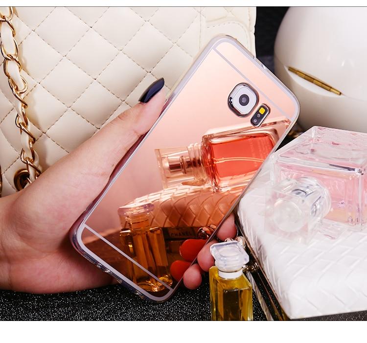 Luxury Mirror Soft TPU Back Cover Phone Case For Samsung Galaxy S3 S4 S5 S6 S7 Edge Plus A310F A510F A5 A7 J5 J7 Note 3 4 5 Capa