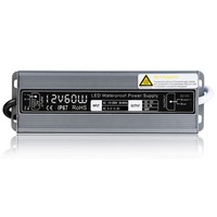 12 V 5A 60 W LED Güç Kaynağı Alüminyum Su Geçirmez 170 V 220 V 12 V LED için Sürücü Aydınlatma LED Şerit için Trafo Adaptörü işıklar