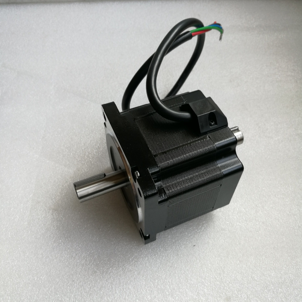 whole a NEMA 34 Double shaft stepper motor Lenght 80mm output 4NM torque shaft 14mm 4 wireswhole a NEMA 34 Double shaft stepper motor Lenght 80mm output 4NM torque shaft 14mm 4 wires