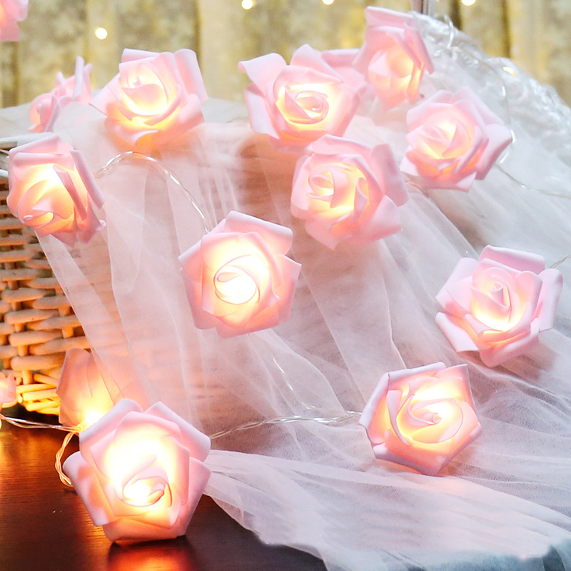 10 Led 20 Leds Romantic Rose Flower String Light For Holiday Wedding Xmas New Year Home Dedroom Table Decor AA Battery Garland (6)