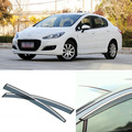 4 pcs Lâmina Lateral Do Windows Defletores Porta Viseira Protetor Para Peugeot 308 2012-2013