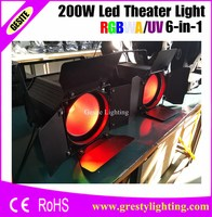 2 stücke LED Par Können/6in1 RGBWA UV Farbe 200 watt COB LED Par/LED Dmx Stadiums-Licht Dj