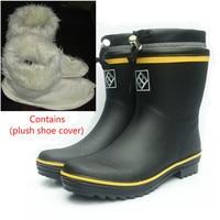Fashion Men S Wellington Rubber Rain Boots Waterproof Fishing Boots High Quality Slip On Non Slip